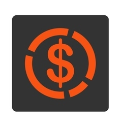 Dollar diagram icon vector
