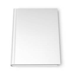 Empty white book vector