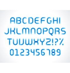 Smooth marker alphabet letters font vector