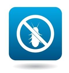 No termite sign icon simple style vector
