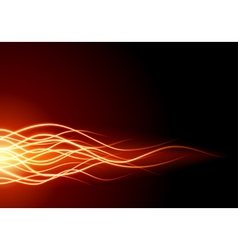 Abstract flame fire vector image vector image