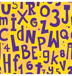 Alphabet yellow pattern vector image vector image