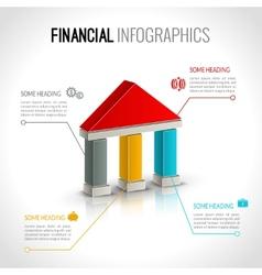 Bank financial infographics vector