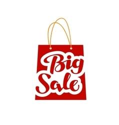Big sale logo shopping symbol or icon vector