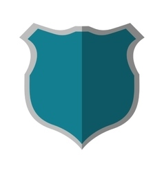 blue shield protection security shadow vector image