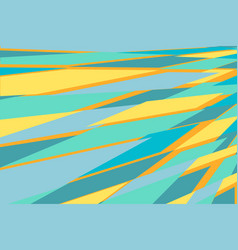 blue yellow abstract geometric background vector image