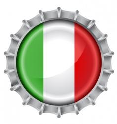 bottle cap flag vector image