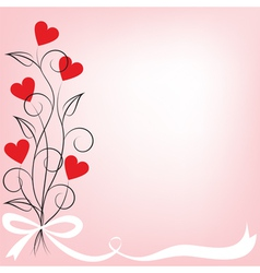 bouquet of flowers shaped heart vector image vector image