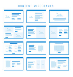 content wireframe components for prototypes vector image vector image