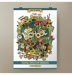 Doodles cartoon colorful school hand drawn vector