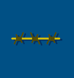 Flat icon design collection barbed wire in vector