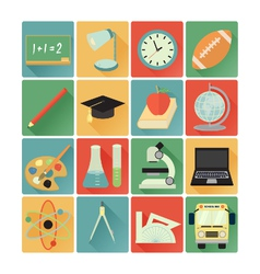 Flat icons education vector