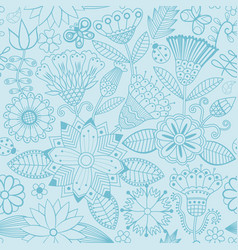 Flower pattern black and white seamless vector