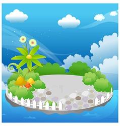 Garden in blue sky vector image