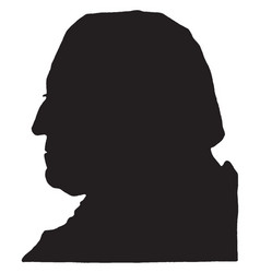George washington - silhouette vintage vector
