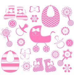 girl newborn collection vector image vector image