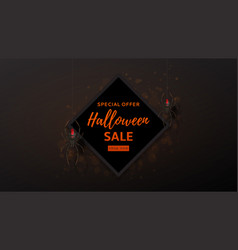 Halloween sale design web banner vector