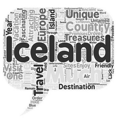 Iceland untamed and tourist friendly text vector
