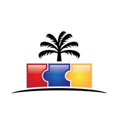 kindergarten logo vector image