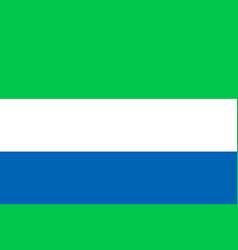 National flat flag of sierra leone vector