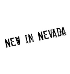 New in nevada rubber stamp vector