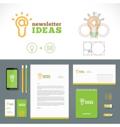 Newsletter Ideas Logo and Identity Template vector image vector image