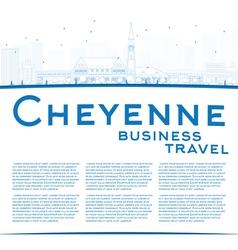 Outline Cheyenne Wyoming Skyline vector image