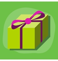 Paper sticker on stylish background gift box vector