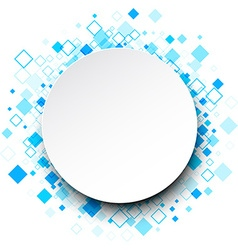 Round background with rhombs vector image