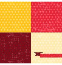 Seamless abstract retro pattern Stylish grunge vector image