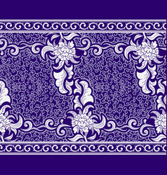 seamless border in the chinese style blue vector image vector image