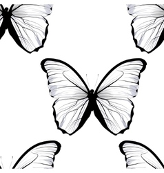 seamless tiling repeating butterfly pattern vector image