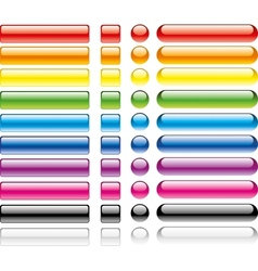 set of colorful web buttons vector image vector image