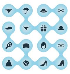 Set of simple wardrobe icons vector