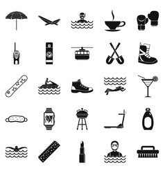 Therapy icons set simple style vector