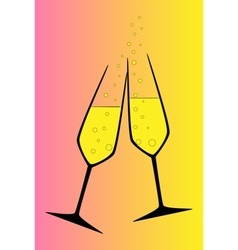 Toasting vector image vector image