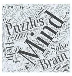 Toys and mind puzzles word cloud concept vector