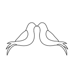 Two doves icon image vector
