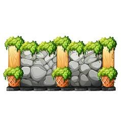Wall made of brick stones vector