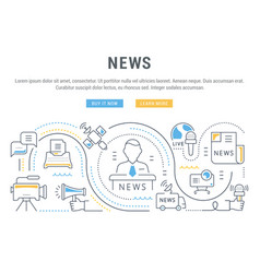 website banner and landing page news vector image