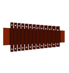 Xylophone flat icon vector