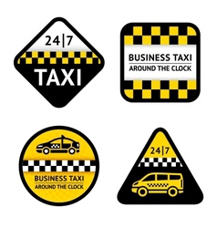 Taxi - set labels vector image
