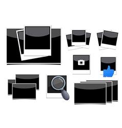 instant photo frame set vector image