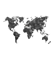 Map world polygon on a white background vector