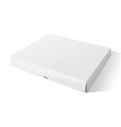 realistic cardboard box mockup with shadows vector image