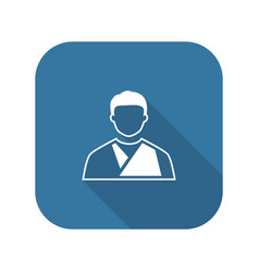 Orthopedics icon flat design vector