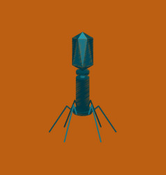 Flat shading style icon bacteriophage vector