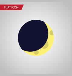 Isolated half moon flat icon crescent vector