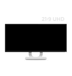 Monitor mockup on white realistic display vector