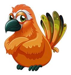 A scary-looking bird vector image